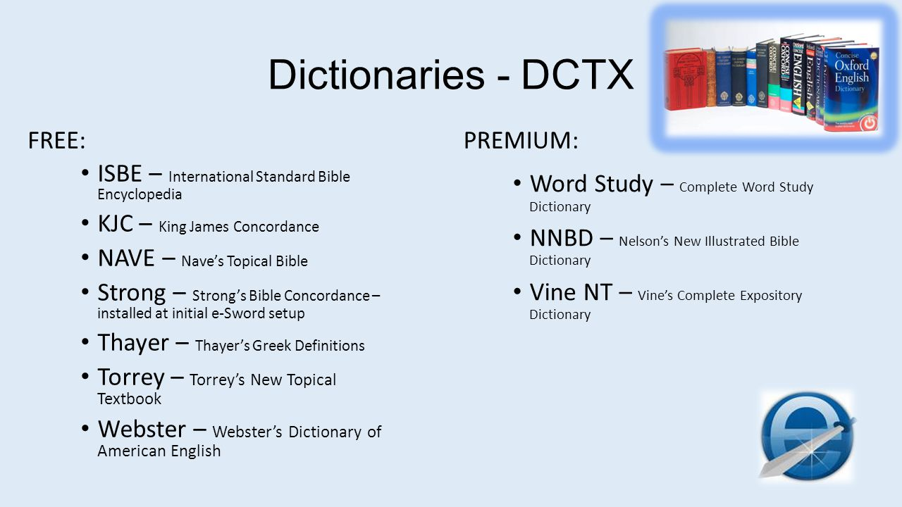 Dictionaries - DCTX FREE: PREMIUM: