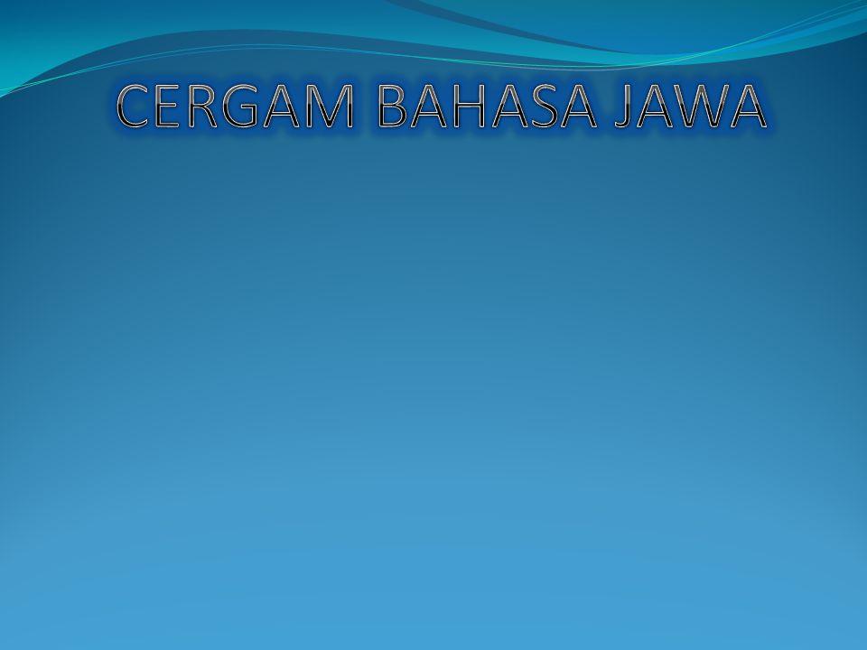 CERGAM BAHASA JAWA