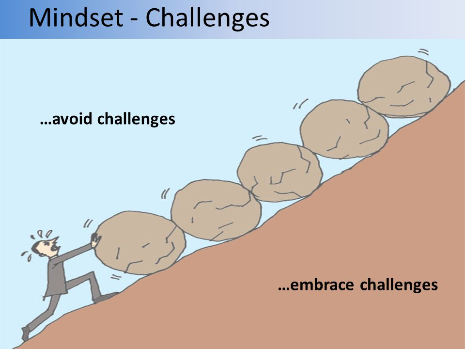 Mindset - Challenges …avoid challenges …embrace challenges