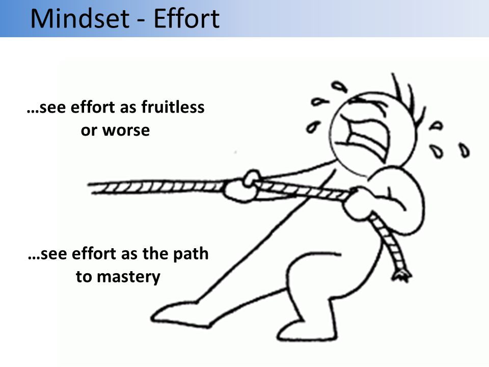 …see effort as fruitless or worse …see effort as the path to mastery