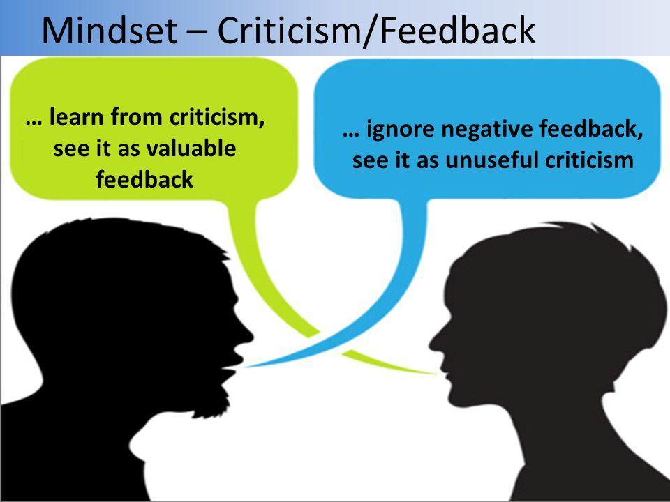 Mindset – Criticism/Feedback