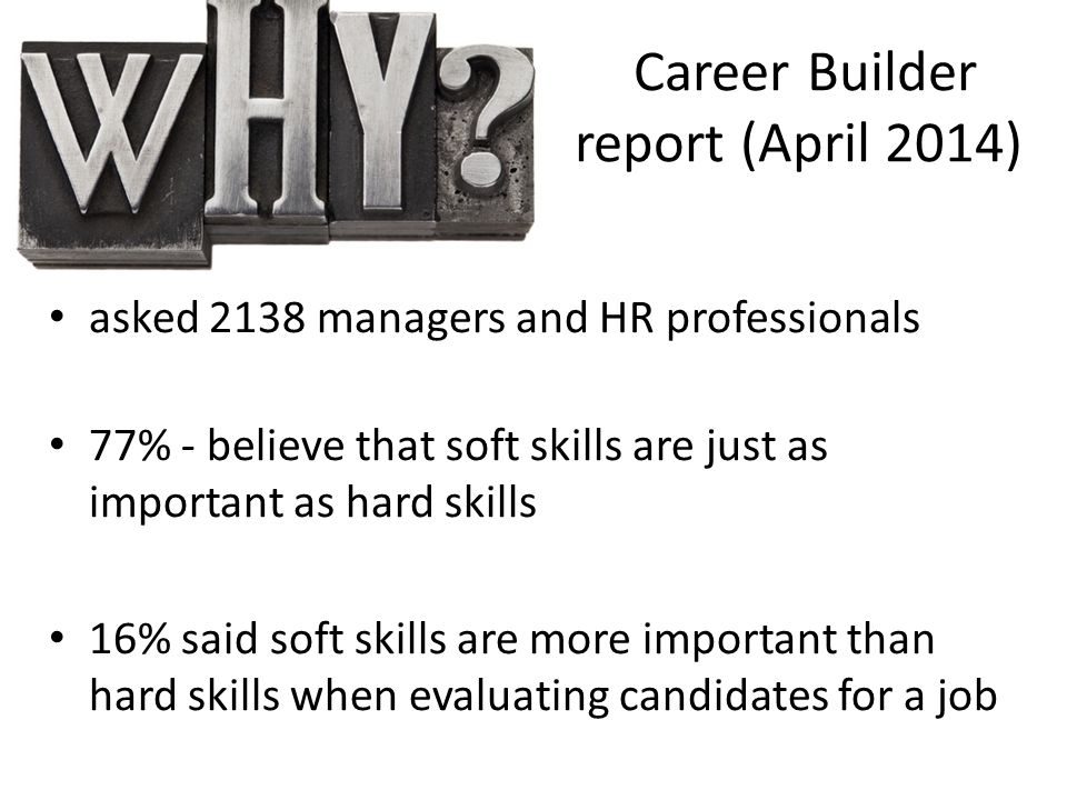 Career Builder report (April 2014)