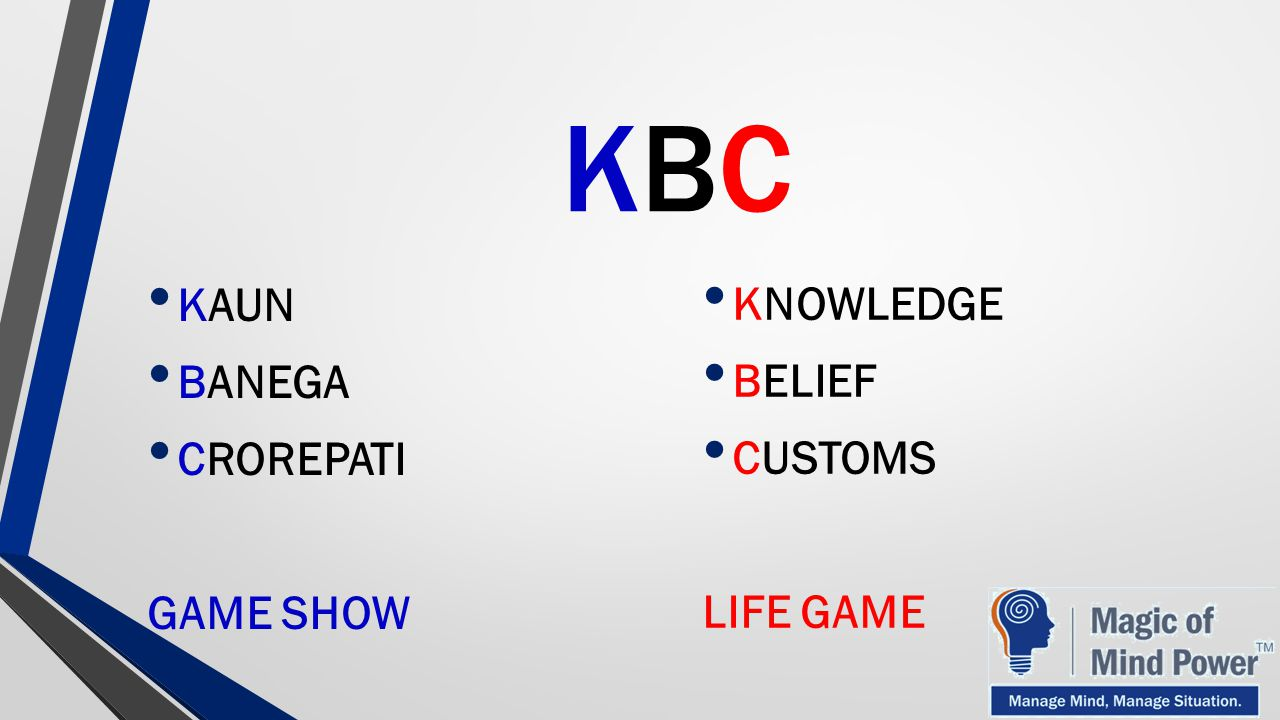 KBC KAUN BANEGA CROREPATI GAME SHOW KNOWLEDGE BELIEF CUSTOMS LIFE GAME