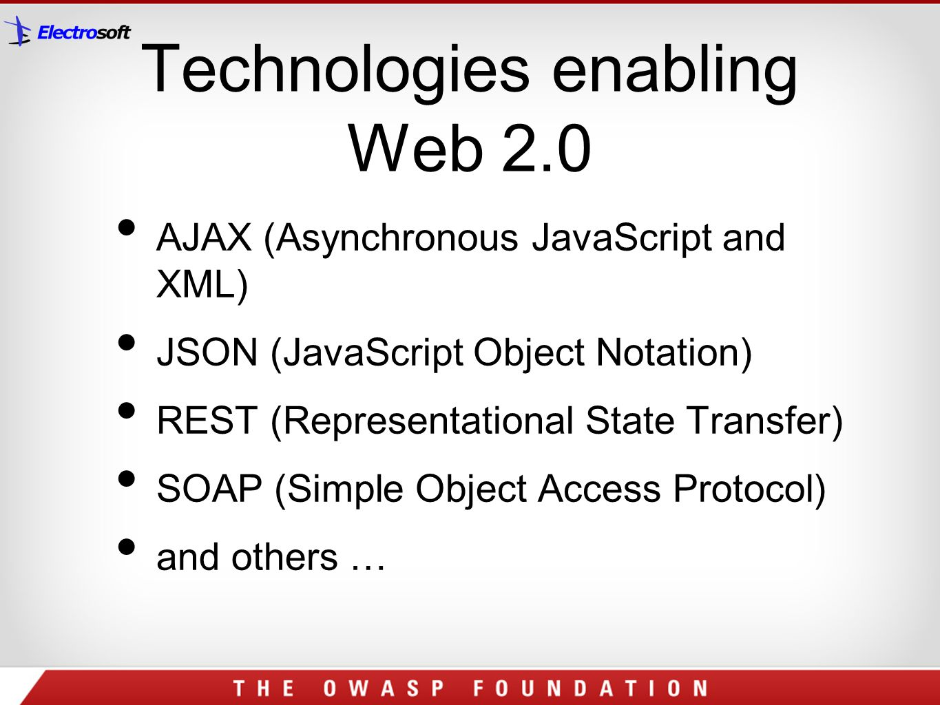 Technologies enabling Web 2.0
