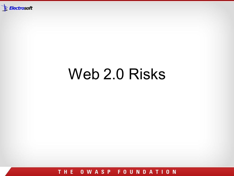 Web 2.0 Risks