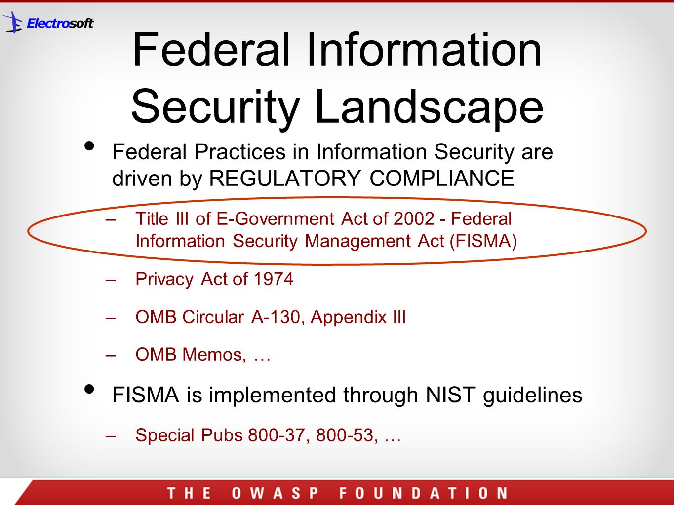 Federal Information Security Landscape