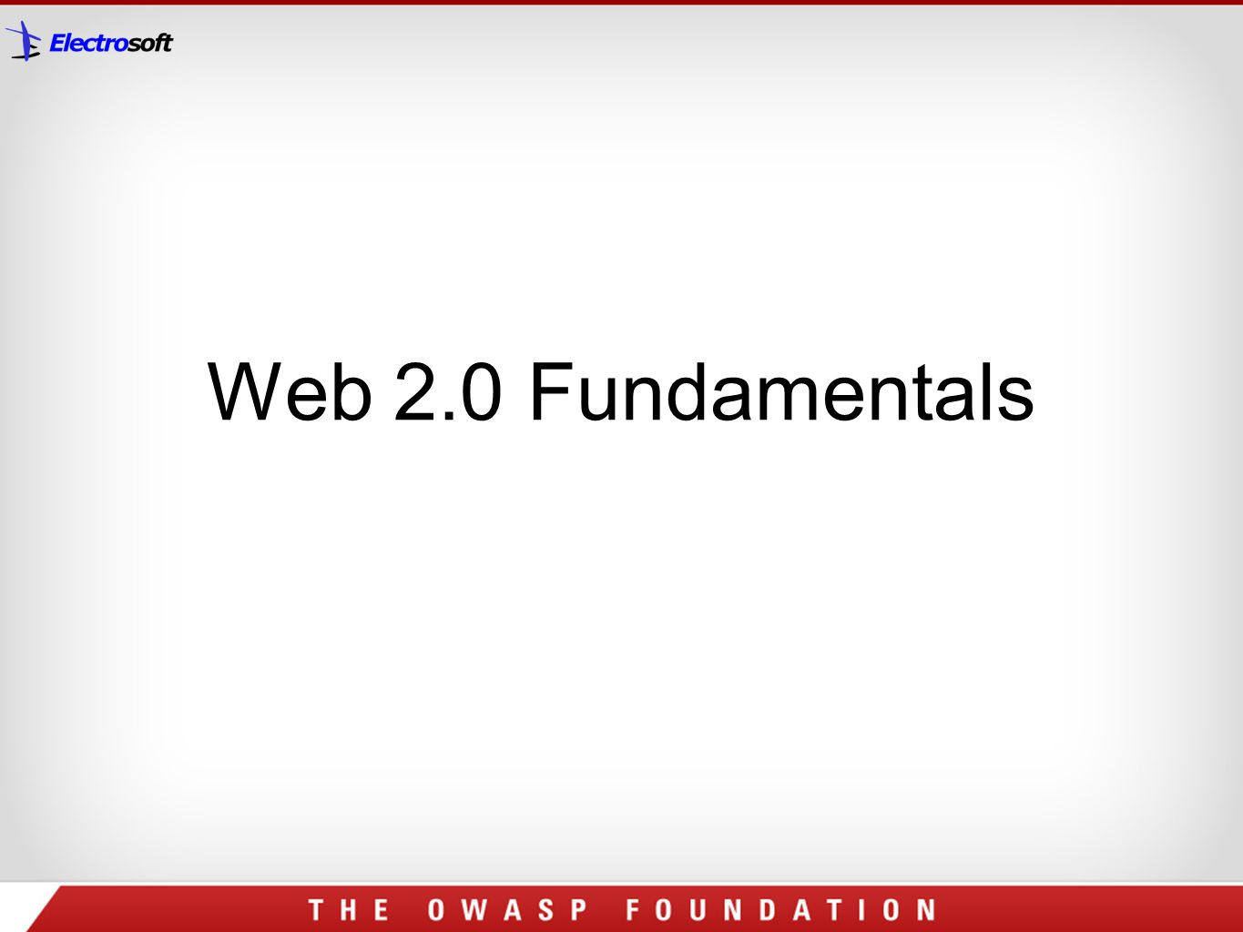 Web 2.0 Fundamentals