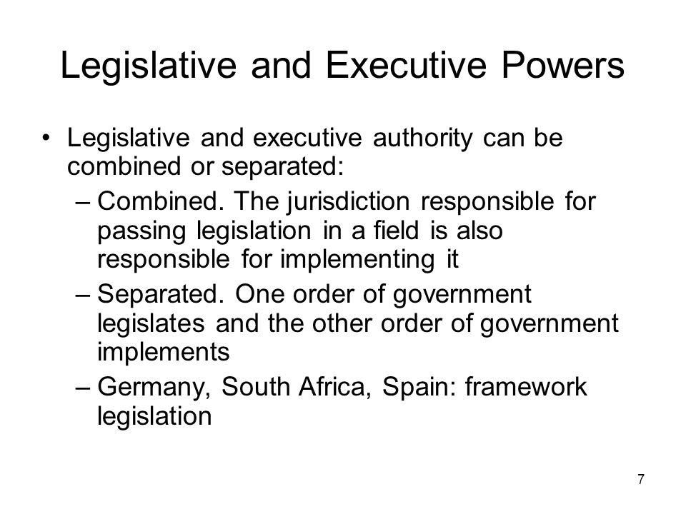 Legislative and Executive Powers
