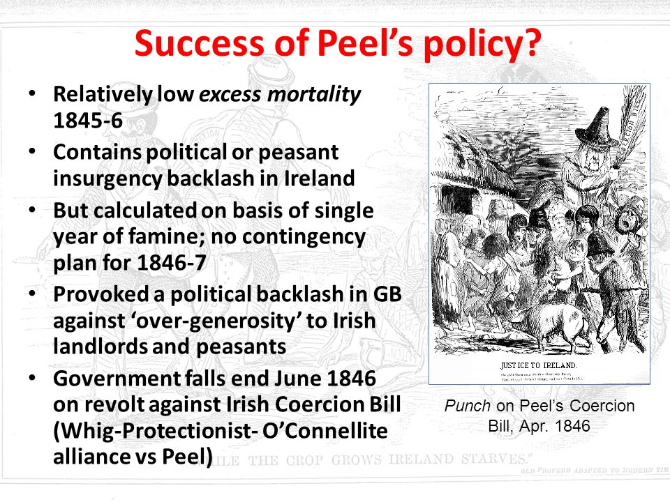 Success of Peel's policy