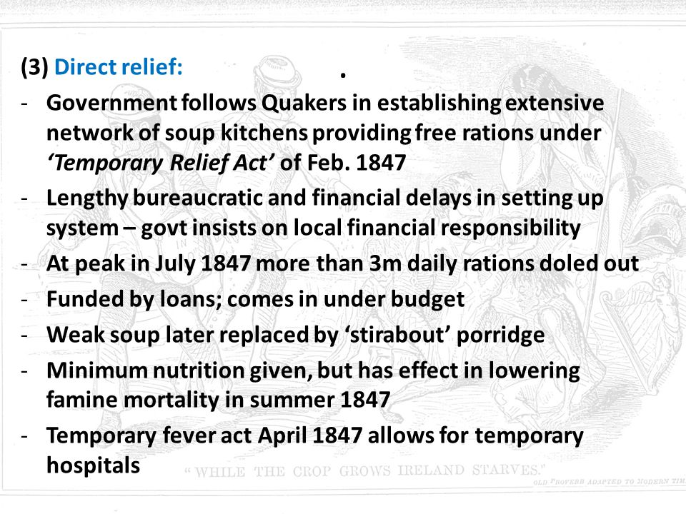 . (3) Direct relief: