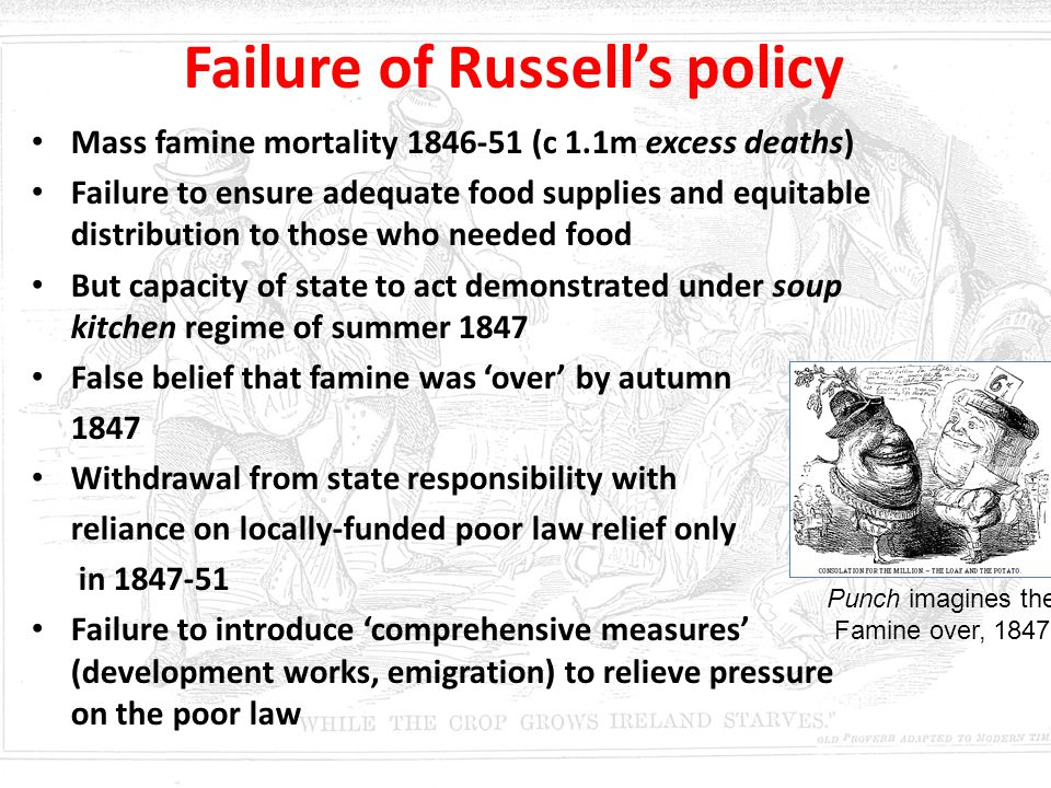 Failure of Russell's policy