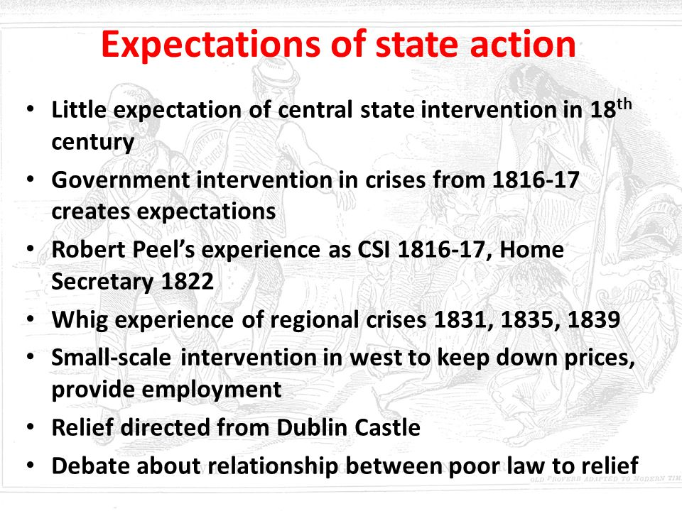 Expectations of state action