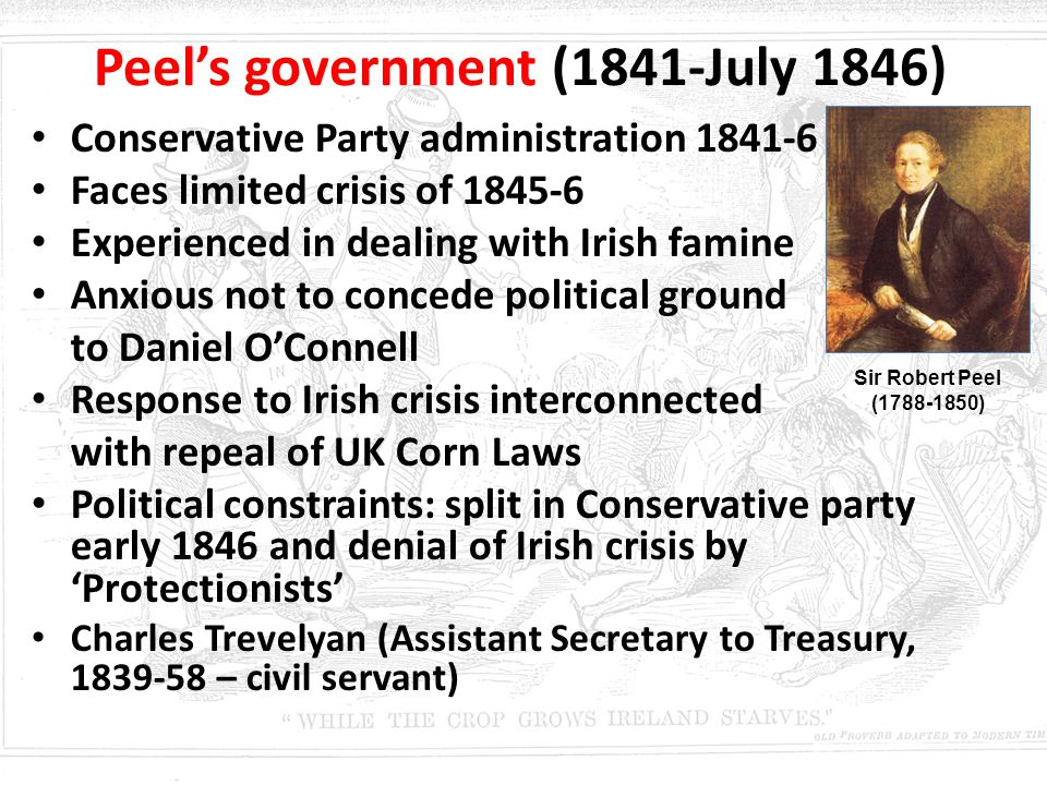 Peel's government (1841-July 1846)
