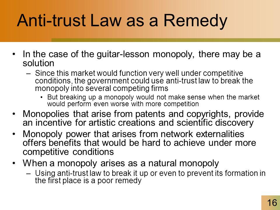 Anti-trust Law as a Remedy
