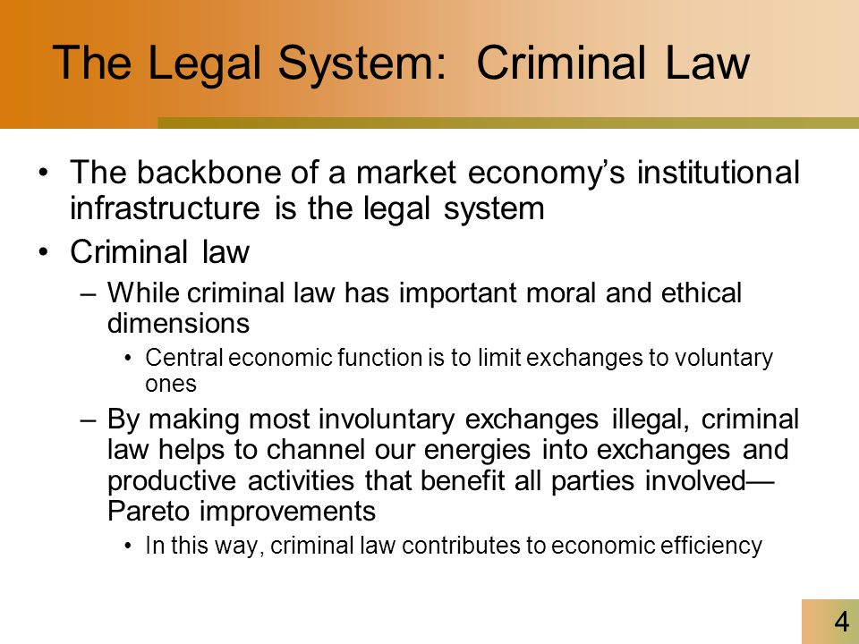 The Legal System: Criminal Law