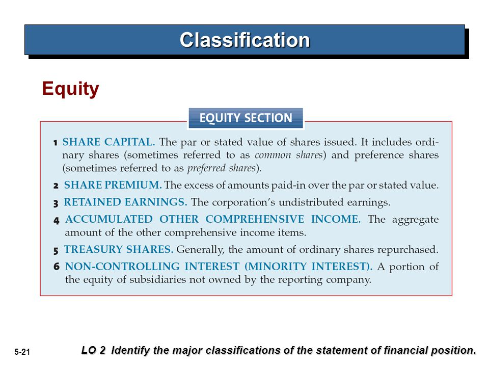 Classification Equity