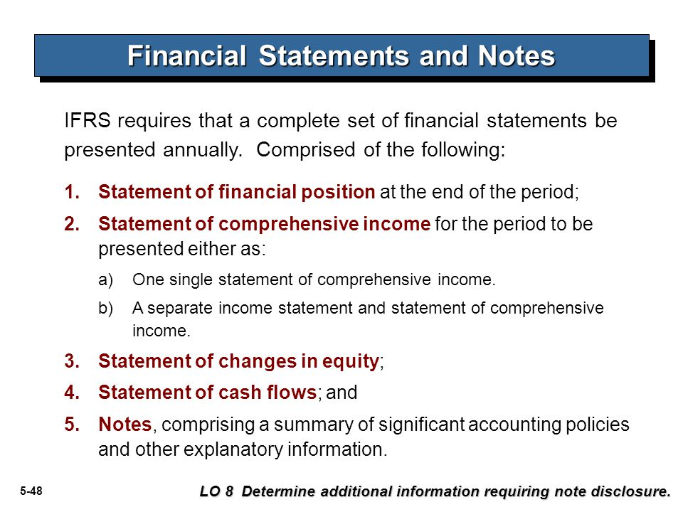 Financial Statements and Notes
