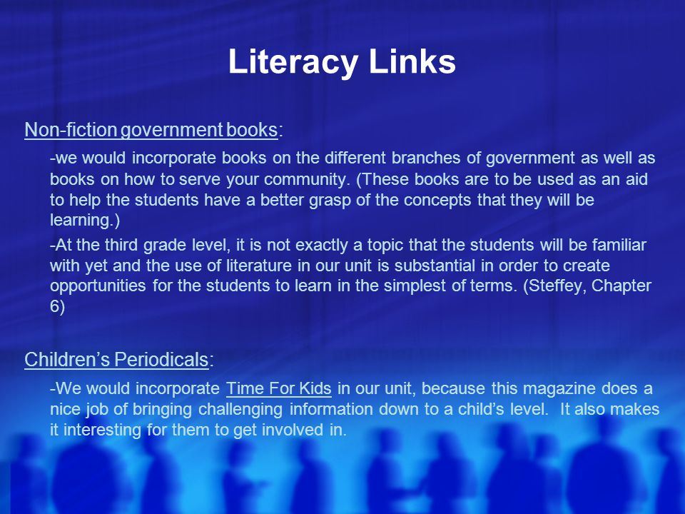 Literacy Links Non-fiction government books: