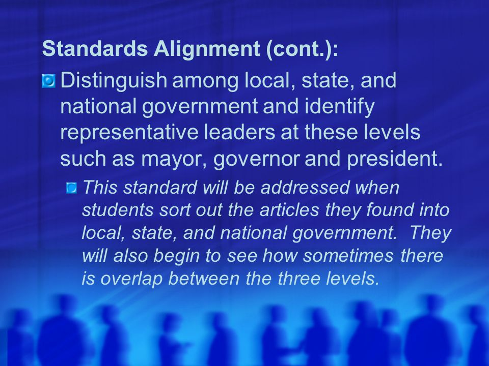 Standards Alignment (cont.):