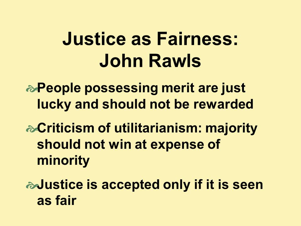 Justice as Fairness: John Rawls