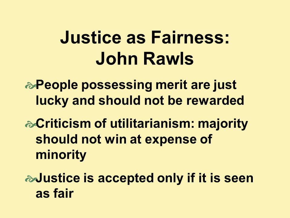 Justice as Fairness: John Rawls