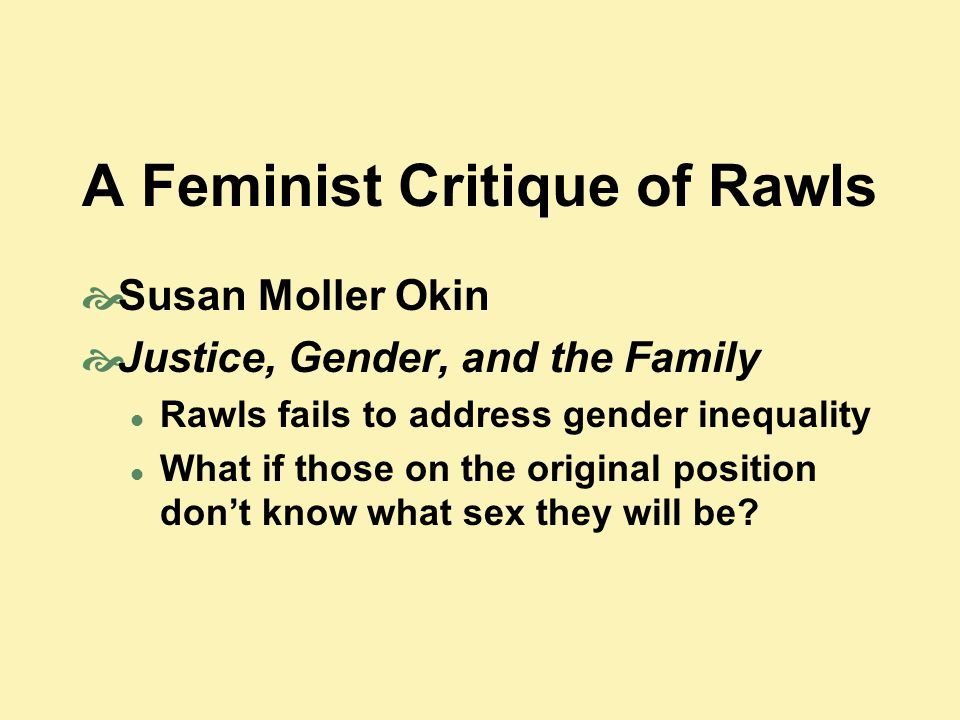A Feminist Critique of Rawls