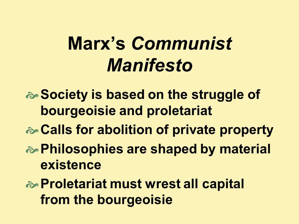 Marx's Communist Manifesto