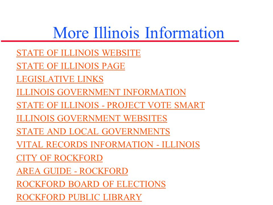 More Illinois Information