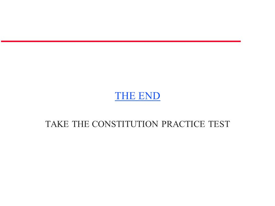 TAKE THE CONSTITUTION PRACTICE TEST
