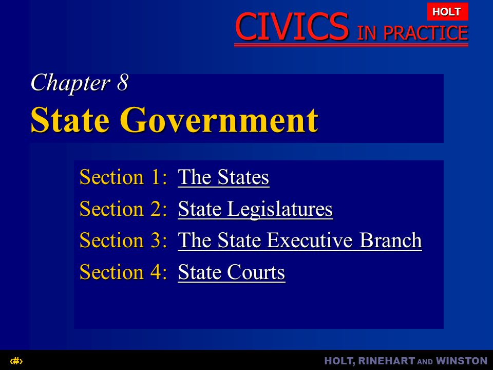 Chapter 8 State Government