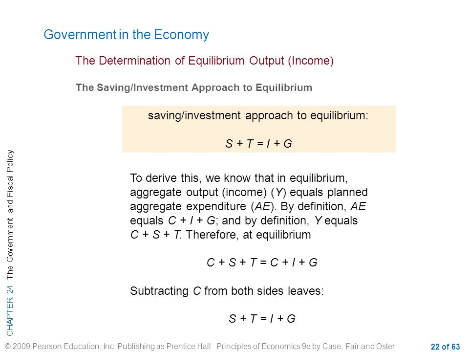 saving/investment approach to equilibrium: