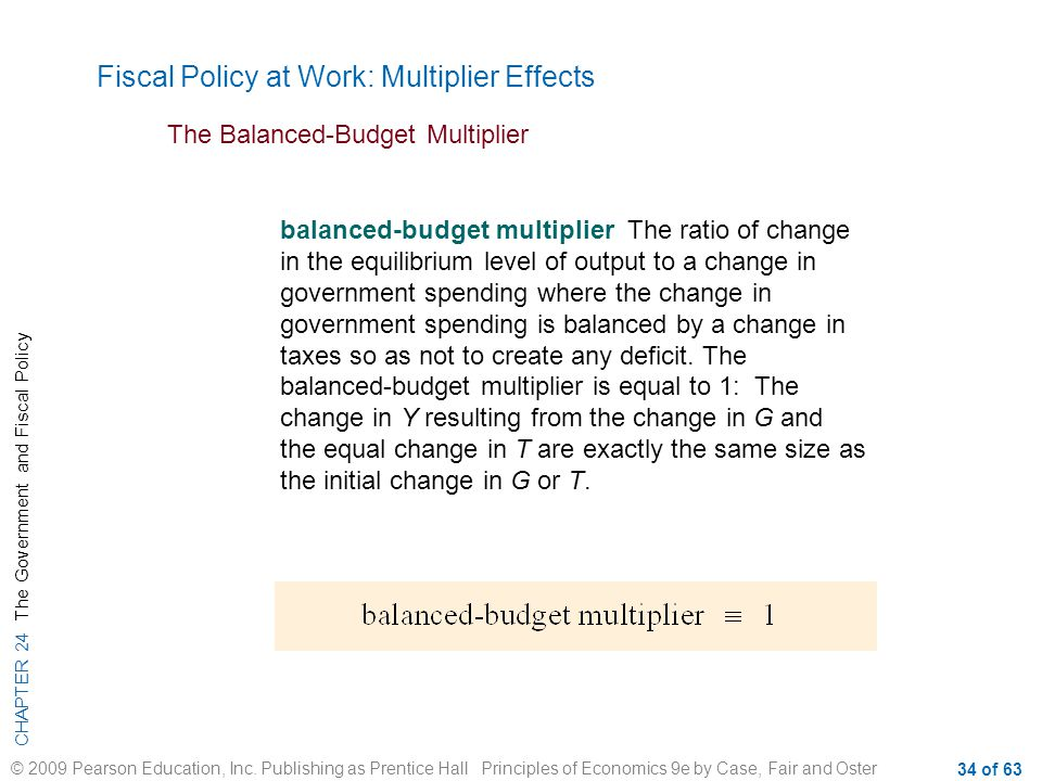 Fiscal Policy at Work: Multiplier Effects