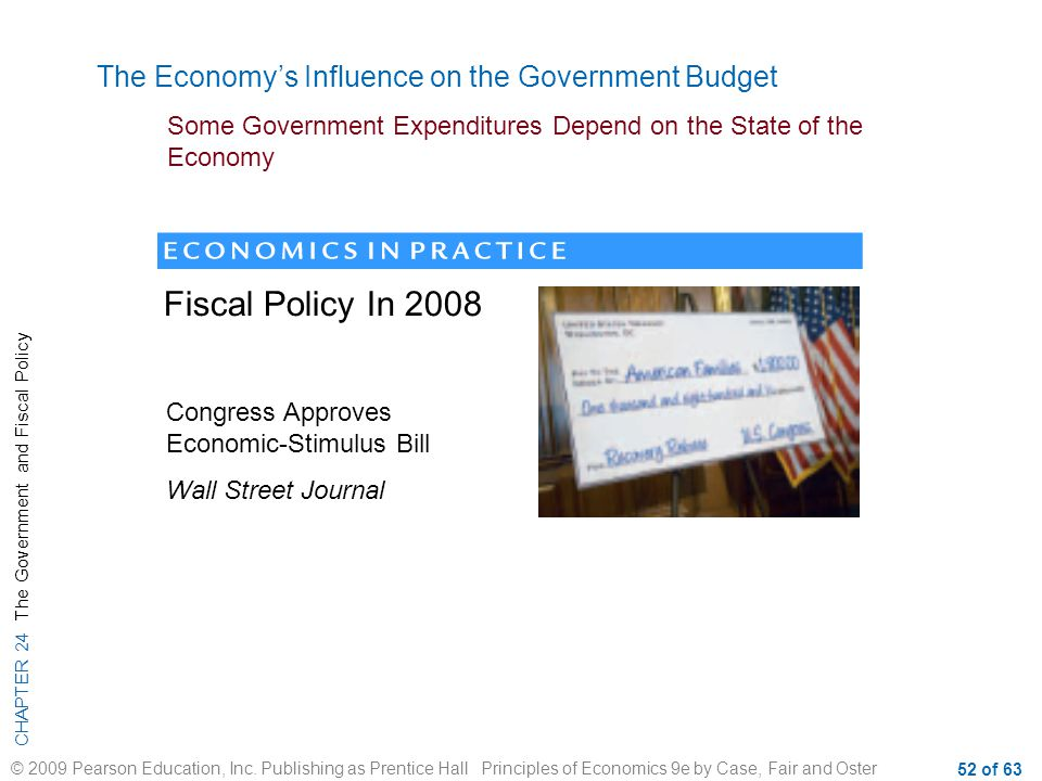 Fiscal Policy In 2008 The Economy's Influence on the Government Budget