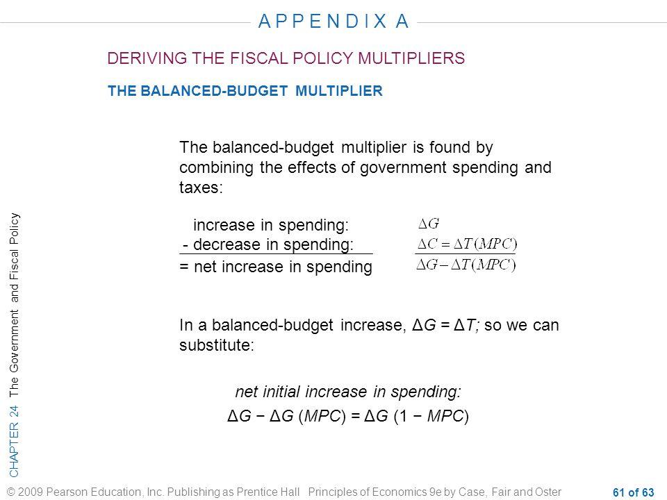 net initial increase in spending: