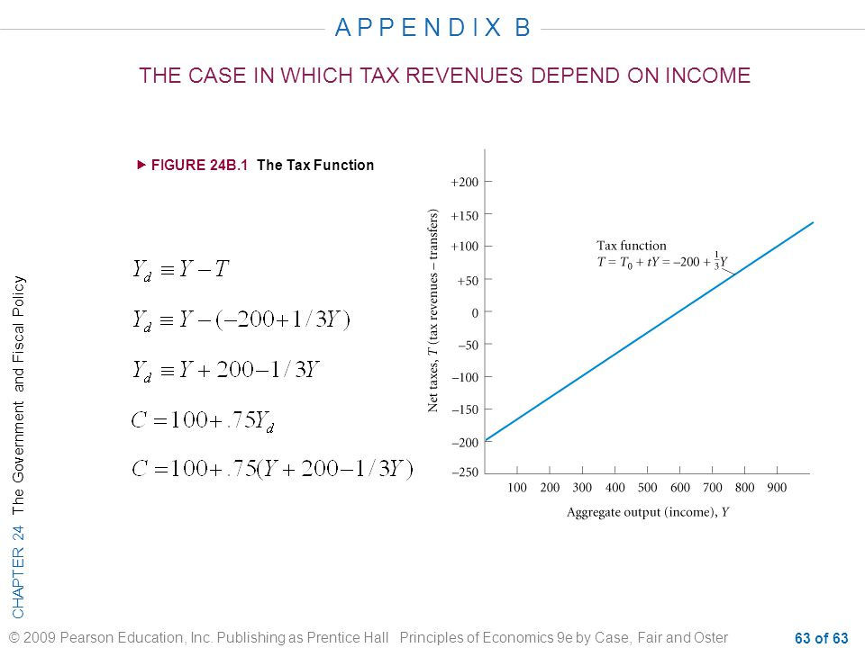 A P P E N D I X B THE CASE IN WHICH TAX REVENUES DEPEND ON INCOME