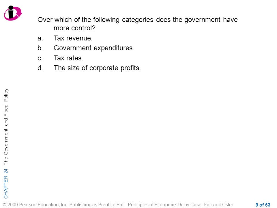 Over which of the following categories does the government have more control