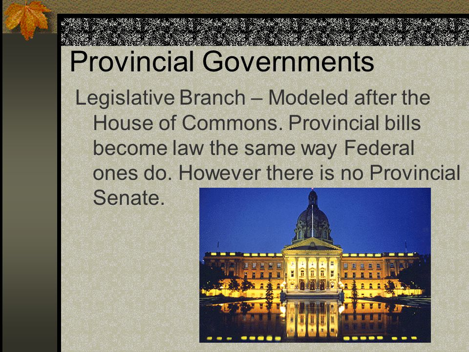 Provincial Governments