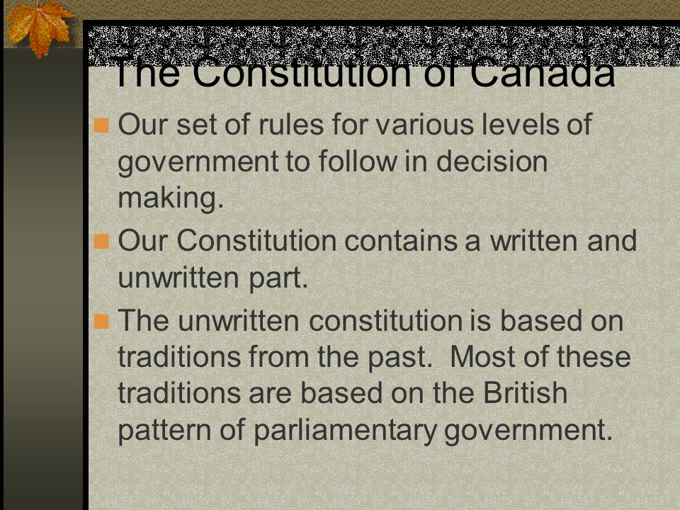 The Constitution of Canada