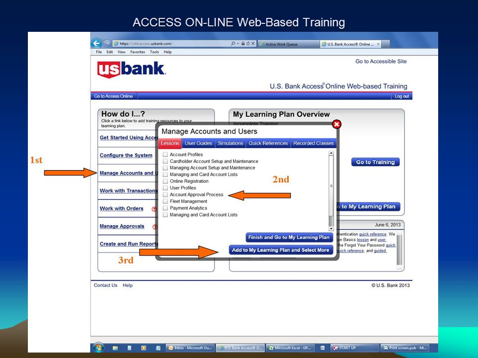 ACCESS ON-LINE Web-Based Training