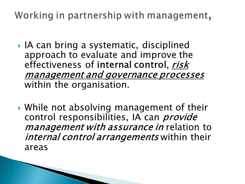 Working in partnership with management,