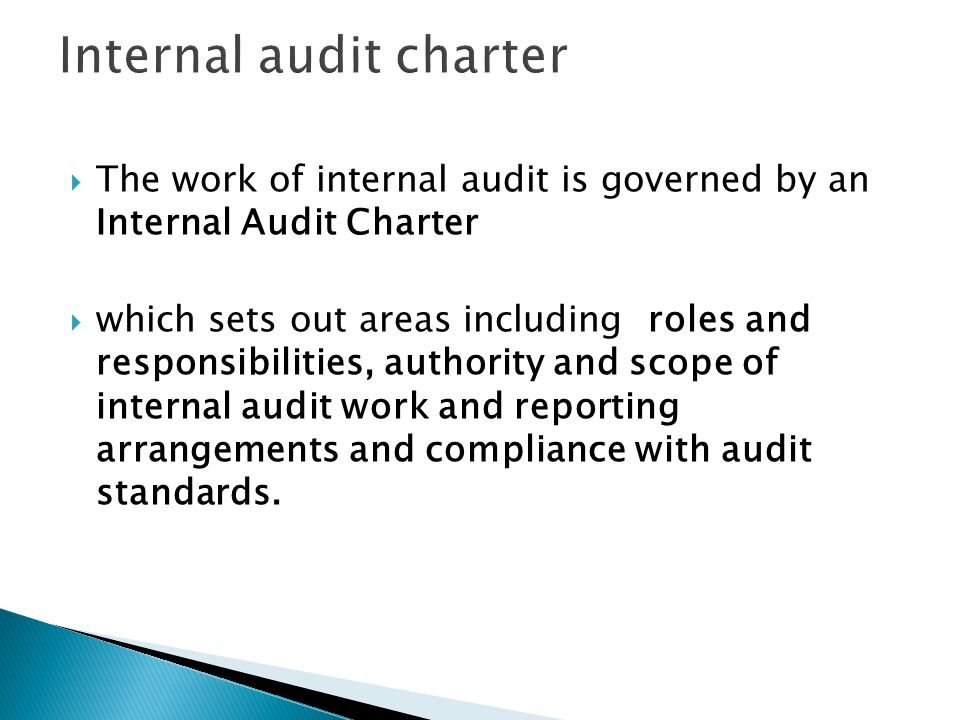Internal audit charter