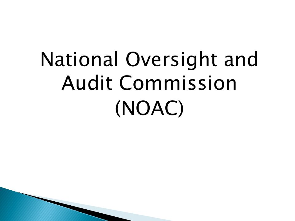 National Oversight and Audit Commission (NOAC)