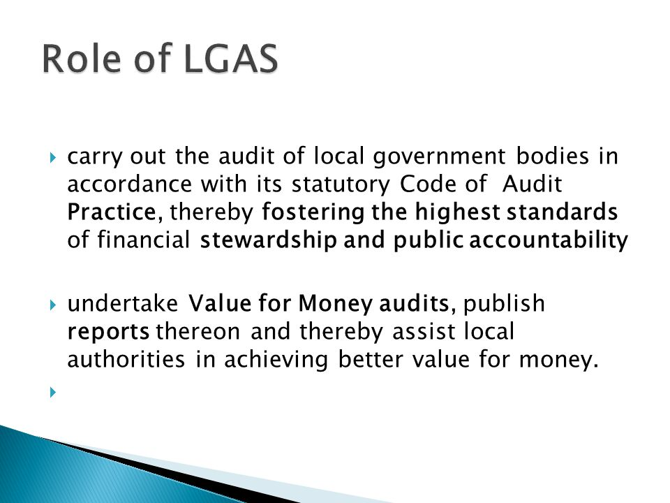 Role of LGAS