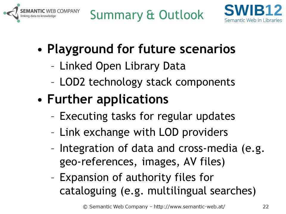 Playground for future scenarios