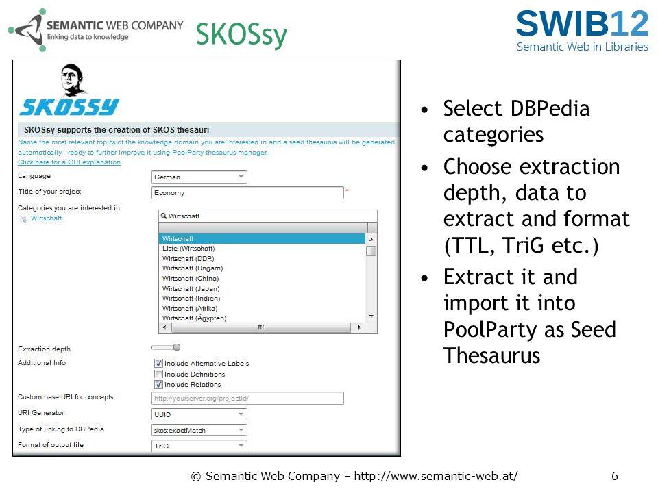 SKOSsy Select DBPedia categories