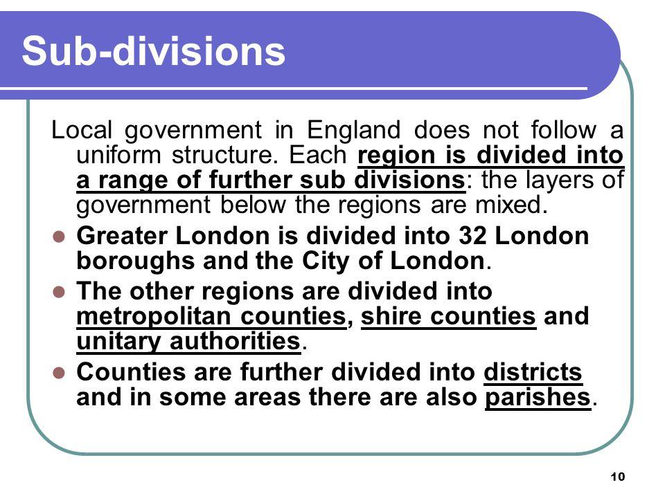 Sub-divisions