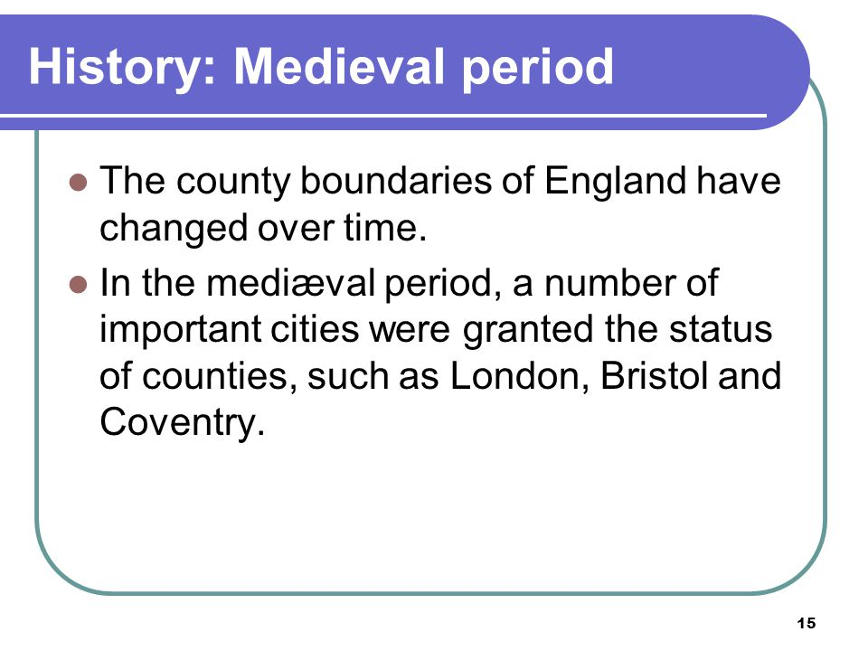 History: Medieval period