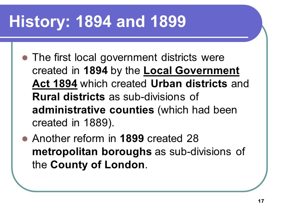 History: 1894 and 1899