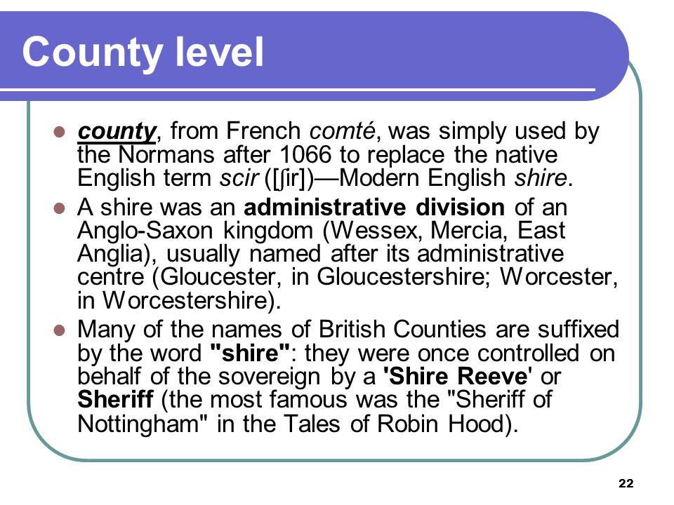 County level