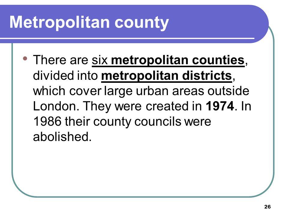Metropolitan county